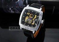 Наручные часы Watch Mens Mechanical CHRO black face Skeleton
