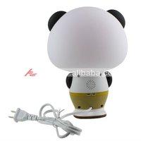 Kung Fu Panda Style Intelligent Lamp Desk Light Voice Control - White + Black (AC 220V),Free Shipping