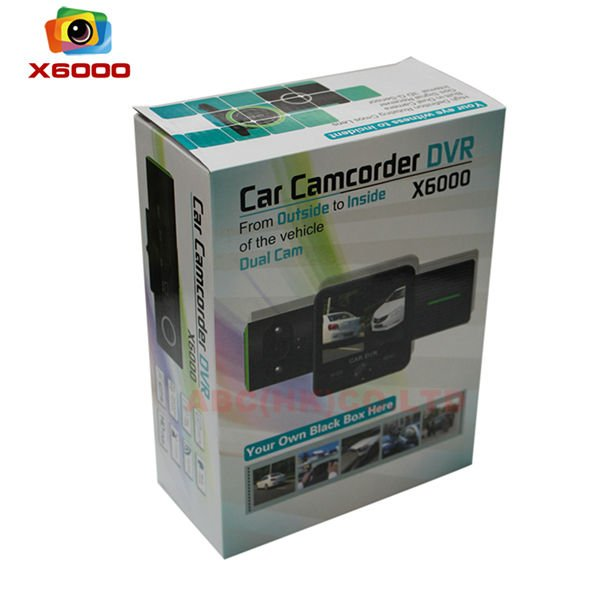 2012 New Arrival Car dvr camera Dual Camera with GPS Logger X6000 Free Shipping