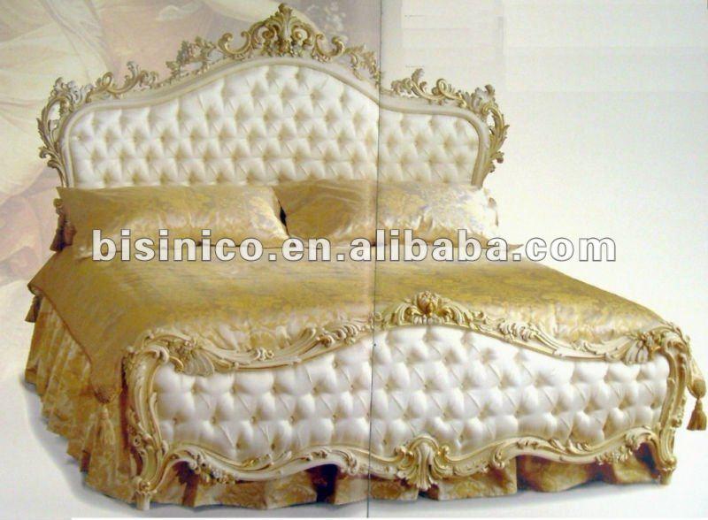 Mano de madera tallada clásica europea hogar muebles de dormitorio ...