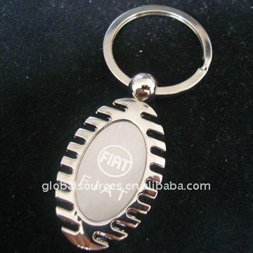 cheapest blank metal keyring with groove for epoxy doming sticker