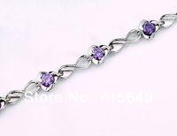 925 Sterling Silver Bracelet female nobility Swiss Rhinestone Crystal