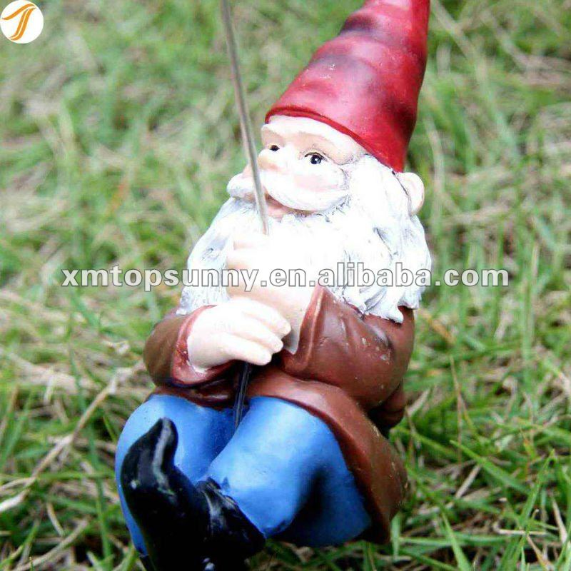 Polyresin Gnomes Solar Garden Decorative Stake Light