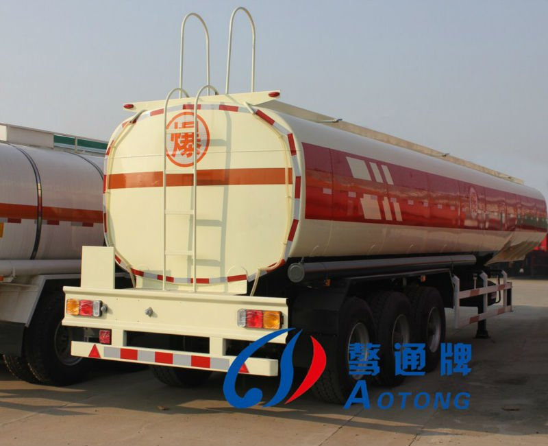 Tanker semi trailer for flammble liquid asphalt