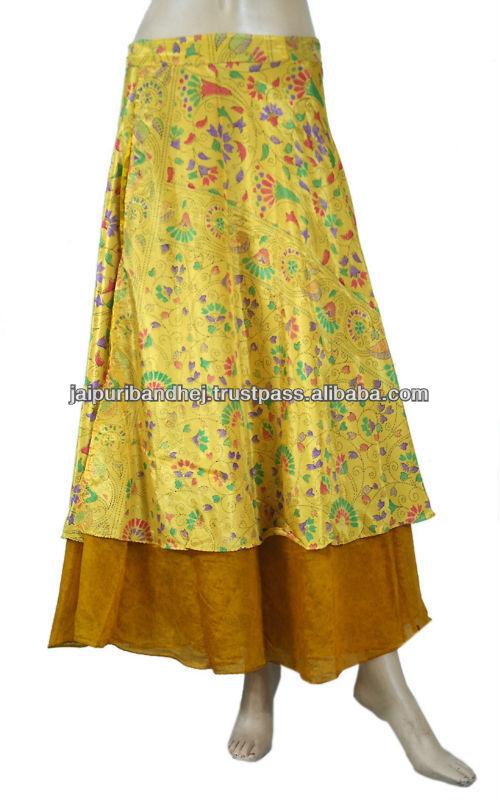 premium selection 31a1f 55bbd indiano reversibile due strati di seta indiana multiwear ...