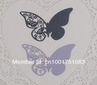 Товары для ручных поделок Paper Cutting Butterfly Place Card, laser cut butterfly wine glass place cards 500pcs/lot BKHD005