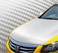 Best Free Shipping Silver 3D Diagonal Car Carbon Fiber Sticker Vinyl Film Wrap Sheet Twill-Weave Retail 1.27 x 30m 127cfvw30m