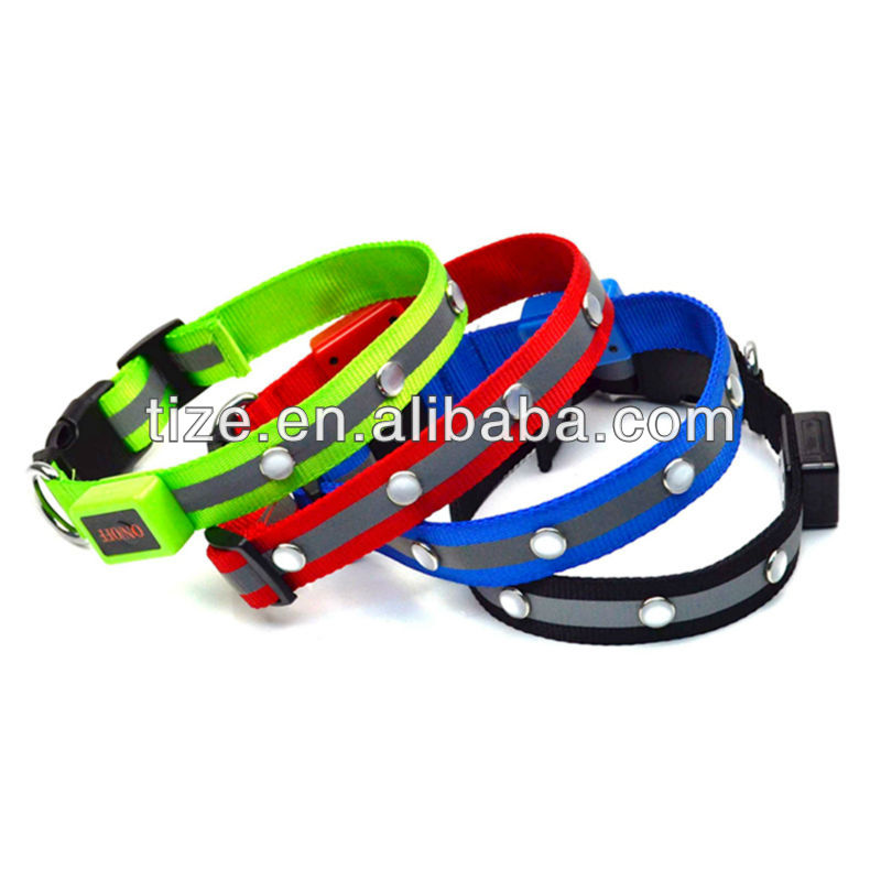 global pet products dog carrier jewel flashing dog collar bright light dog collar TZ-PET1002