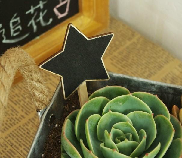 Gardening Flower Vintage Wooden Small  Chalkboard Writing Board Coffee Shop Message Board  10pcs/lot
