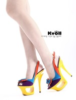 Туфли на высоком каблуке Kvoll Lady's Sexy Suede High Heels Platform Shoes Peep Toe Shoes Women's Sandals Eur Size 34-40