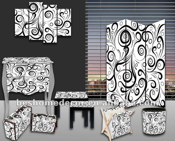 Abstraite s rie en bois moderne meubles baroque lots de for Meuble baroque moderne
