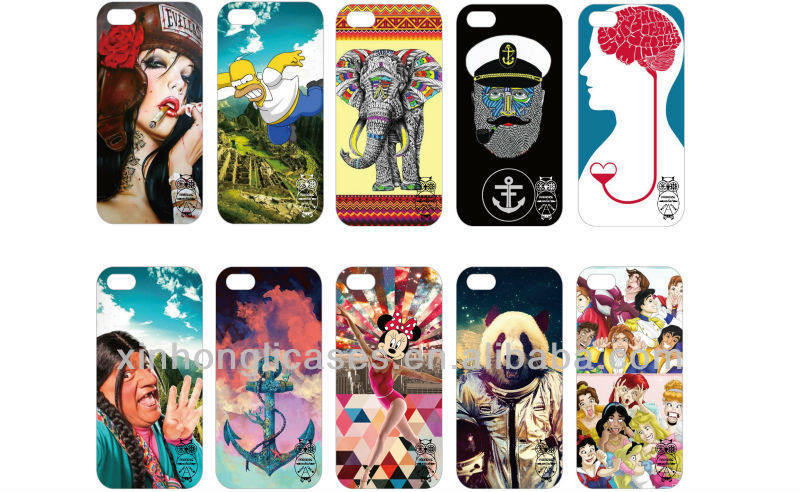 New design customized printing cases for iphone, for samsung