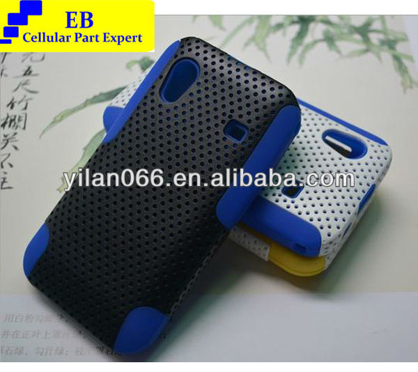 For Samsung S5830 2 in 1 Silicone Armor Case Protective Rubber Case