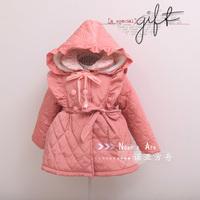 Пуховик для девочек 2013Fashion stylish girl sweet Winter sweet cute kids baby child SPOT thick warm outwear coat Vest berber Fleece Christmas gift