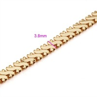 FREE SHIPPING!!! QUALITY 18KGP YELLOW GOLD 460MM MEN'S CHOKERS NECKLACES, COME WITH A FREE EXQUISITE GIFT BOX! (SG2907-JD404)