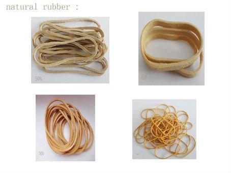 Color Elastic Natural Rubber Band For Diameter 25mm