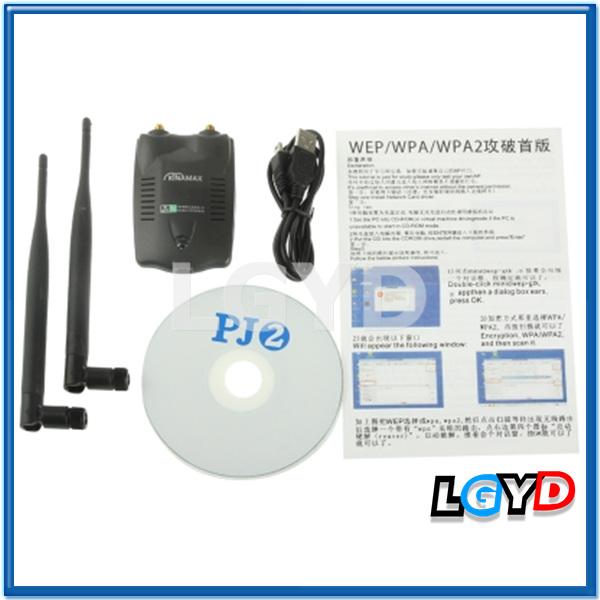 KINAMAX 2.4GHz 802.11b/g/ 300Mbps 500mW USB 2.0 Wireless WiFi Network Adapter with Dual Gain Antenna