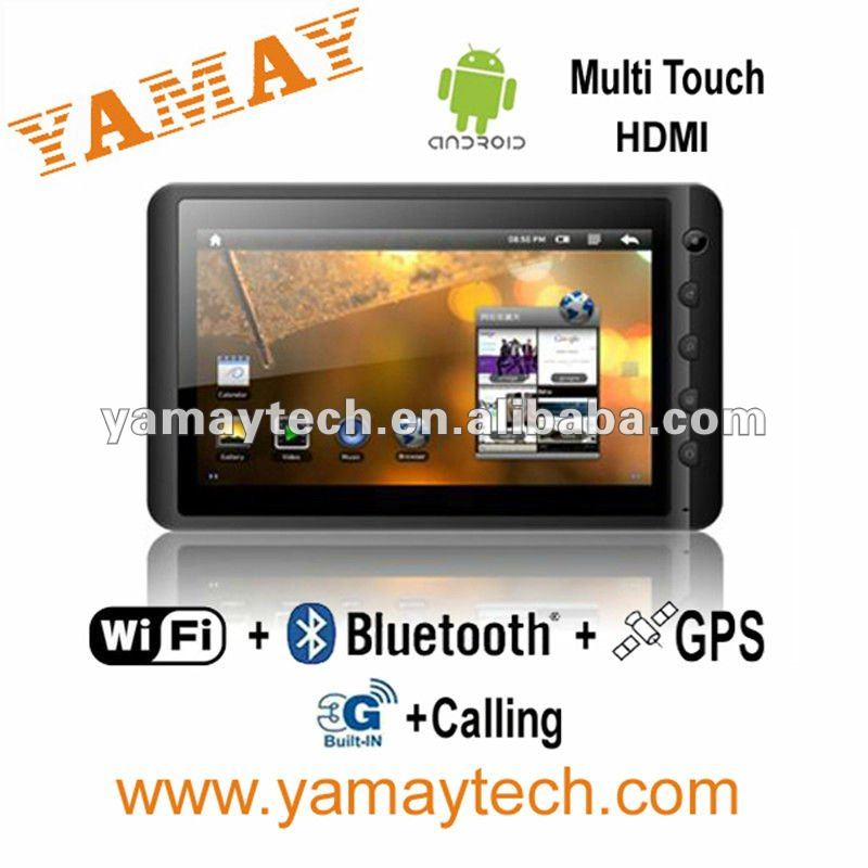 7 inch latest google android tab tablet pc gps 3g sim card slot bluetooth phone calling