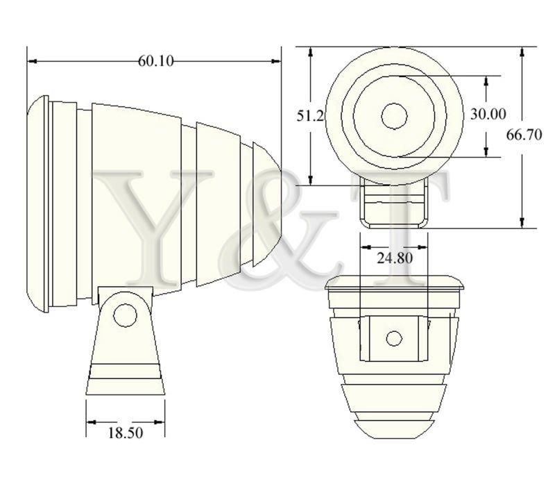 2013 Top New Waterproof IP68 10W Cree LED marine anchor light, Off Road Boat lamp, UTV ATV 4WD 4X4 Head | Tail light