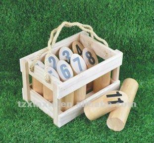 Caoutchouc bois jardin nombre kubb jeu molkky jeu jeux for Jeu adulte exterieur