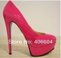 free shipping hot sale elegant ladies nude platform dress shoes high heel red bottom