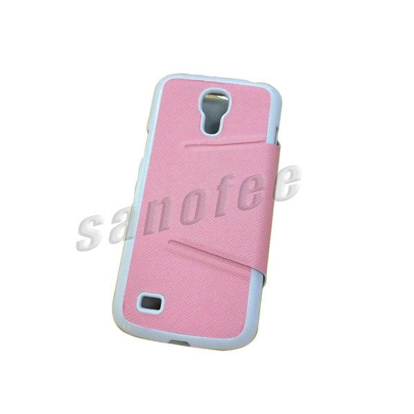2013 new holder flip leather case for Samsung S4 mini