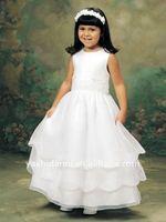 Детское платье 2011 Lovely Cheap Design Pleated Dress For Flower Girl