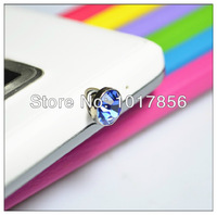 Пылезащитная заглушка для мобильных телефонов 5000pcs/lot diamond Earphone Headphone anti Dust plug dust Cap for iphone 4 4s for 3.5mm plug mobile phone