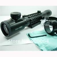 Винтовочный оптический прицел 3-9X32 Tri Rail Red Green Rangefinder Rifle Scope