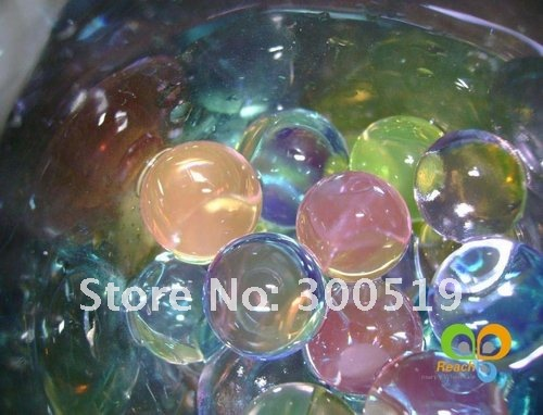 10 colors Mix Crystal Soil/Water Beads/flower mud Retail Pack 100packs/lot Free Shipping