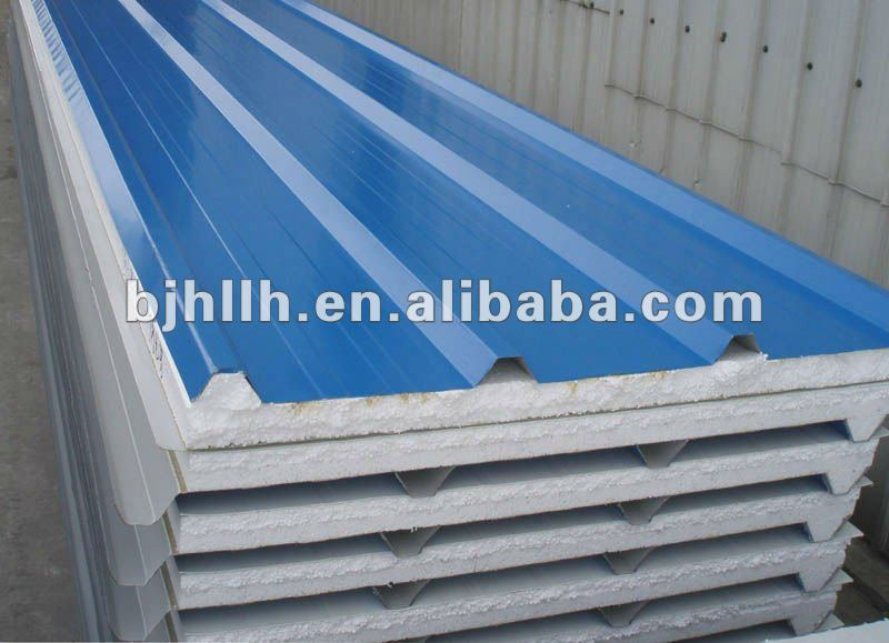 Nonflammable Insulation EPS Sandwich Panels with Great Drainage Capacity