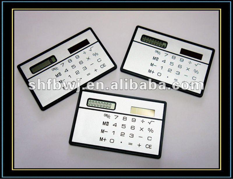 Solar mini Calculator & desk calendar calculator