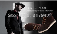 Мужские ботинки 2012 new leisure men's winter boots warm plush inside+anti-fur, fashion high-top working shoes tooling boots, outdoor must have