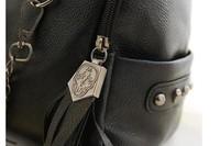 Детали и Аксессуары для сумок women's fashion Skull rivet tassel PU leather handbag shoulder bag
