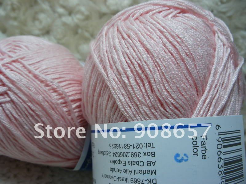 NEW 4*50g Skeins Natural Bamboo Cotton Knitting Yarn Lot;Sport;200g Red, Blue, Orange, Black, Purple, Pink, Green, Cream color