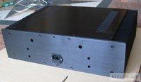 черная панель алюминий Мощность усилителя шасси