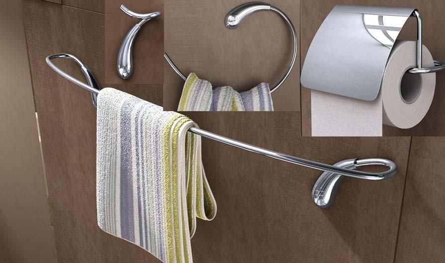 Аксессуары для ванной комнаты New brand Barras Toalhas Set ,   4 y-55