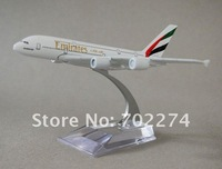 Free Shipping,A380 Emirates,16cm,metal airplane models,airplane model, airbus prototype machine,