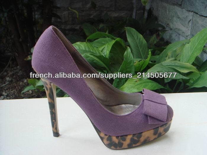 Léopard chaussures à talons hauts 2014