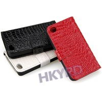 Чехол для для мобильных телефонов 1PCS Crocodile card holder PU Leather Flip Cover Case For iPhone 4 4G 4S CM086