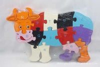 0.3-PP013 Stereo dog gnawing on a bone factory direct wooden educational toys early education aids wooden puzzlesA02
