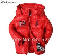 Boys POLO Duck Down Jacket Children's Outerwear  polo Winter Thick jacket