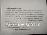 Аксессуары для бара Whisky Stones, 9pcs/set with delicate box+velvet bag whiskey rock stone cube stone
