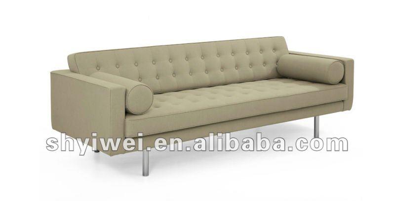 In furniture lounge room leahter sofa in black stainless steel legs - Sof 225 De Cuero Sala De Estar En Muebles Lounge Room