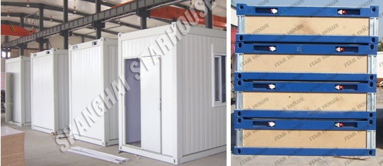 Modified container for carport kiosk cafe