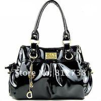 Сумка Designer bags! , wiht patent leather, black, 1 pce