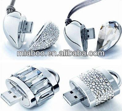 Factory price 16gb/32gb jewelry usb lanyard, rolling swivel usb key/pen drive