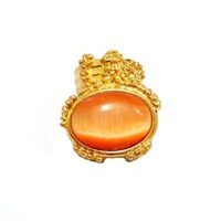 Кольцо Multicolor 18K gold plated cocktail ring arty cluster &retail china MM032301