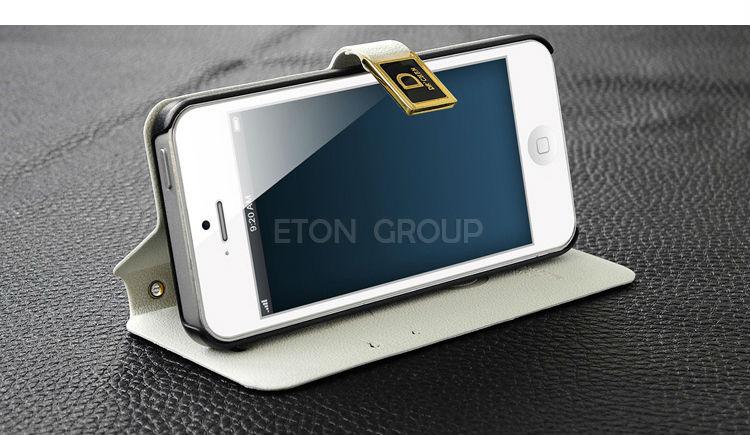Elegant design flip leather case cover for iphone5 , hot wallet case for iphone, vintage wallet leather case for iphone 5