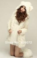 Женские толстовки и Кофты Sale Women Cute Teddy Bear Princess Plush Coat Jacket 79221_GIFT